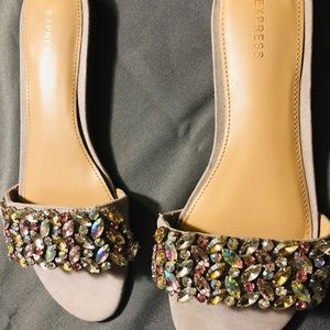 Express jeweled sandals!